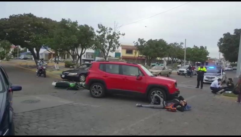 Atropellan a motociclista en el Fraccionamiento Lomas de Mazatlán