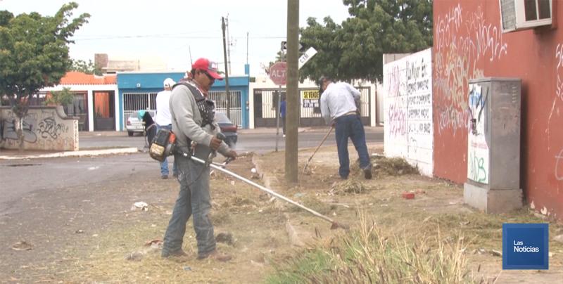 En Cajeme, servicios públicos realiza labores en espacios públicos