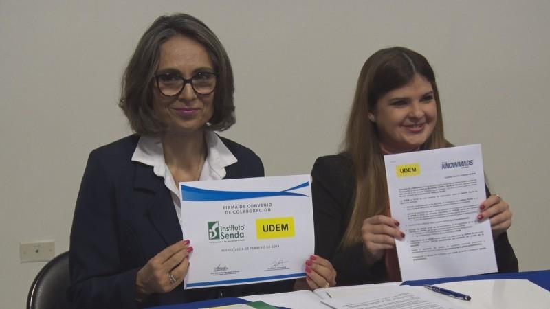 Instituto Senda y UDEM firman convenio de colaboración