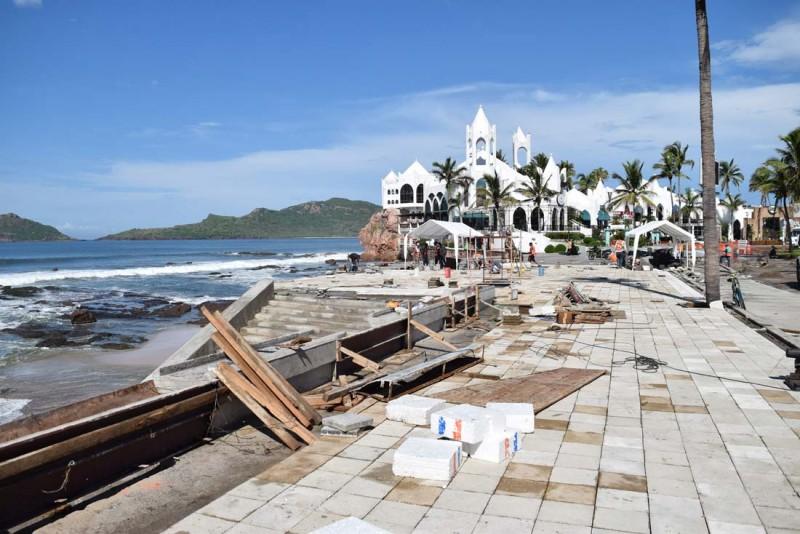 Siguen revisiones en obras de Mazatlán