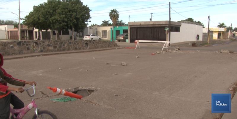 En Cajeme, vecinos de Villa Bonita piden trabajos en puente
