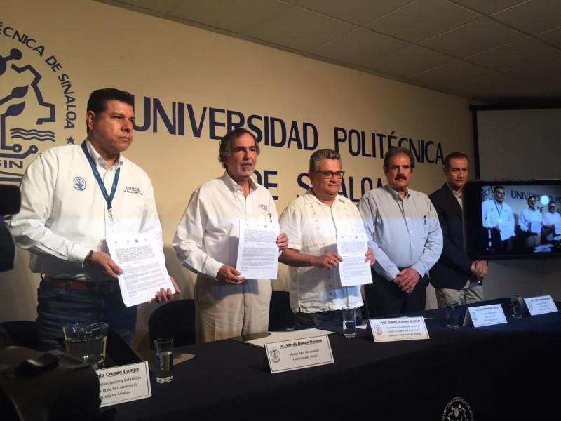 Firman convenio autoridades de seguridad y la UPSIN