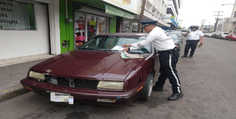 1,209 actas elaboran a conductores mal estacionados en el Centro