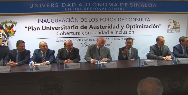 Siguen recibiendo propuestas en el tema de austeridad en la UAS