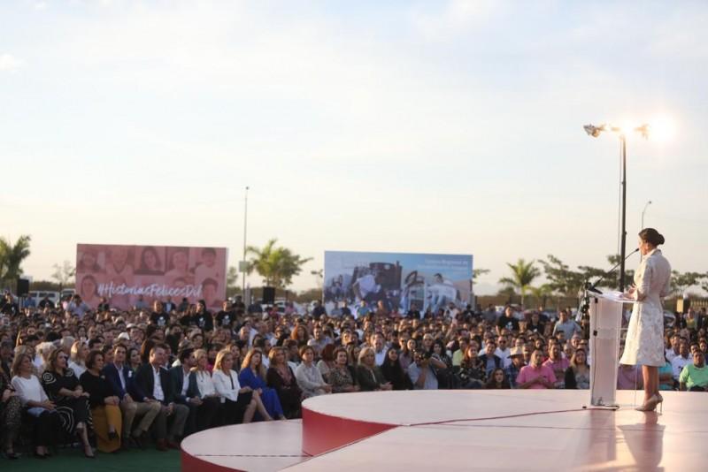 Inauguran CAS en el marco del segundo informe de Rosy Fuentes