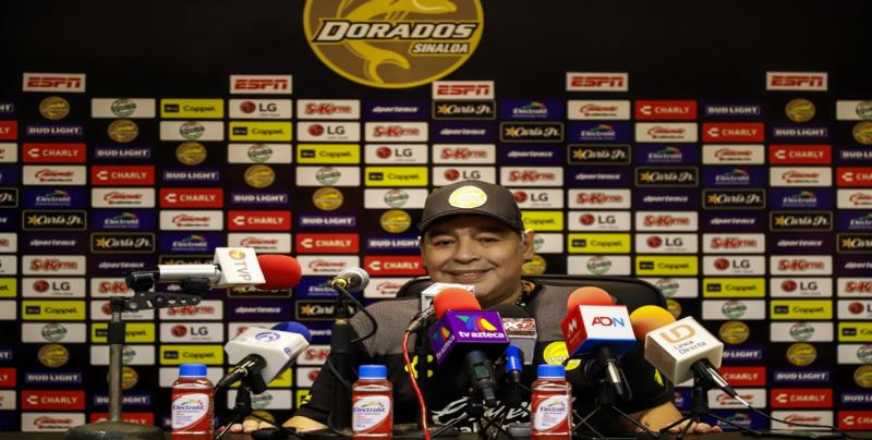 Diego Armando Maradona motivado con el triunfo de Dorados