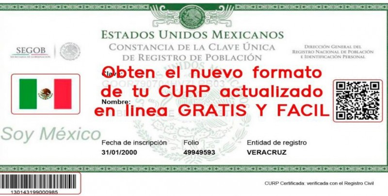 Así puedes consultar e imprimir el nuevo formato de tu CURP