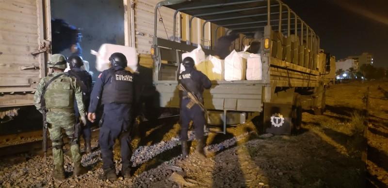 Decomisan tonelada y media de mariguana que era transportada en el ferrocarril