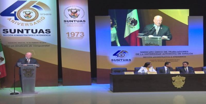 Festeja SUNTUAS Administrativos 46 años de fundado