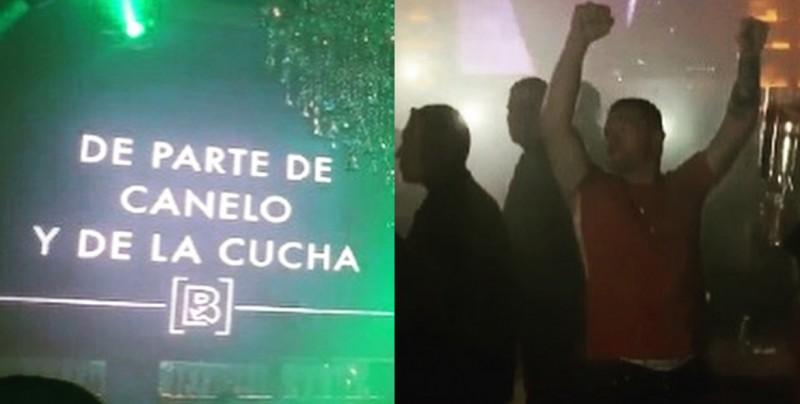 'Canelo' Álvarez regala botellas de champagne en antro de Puerto Vallarta