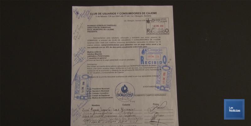 Despido de funcionario, podría afectar pago anual de agua: Pte. Club de Usuarios