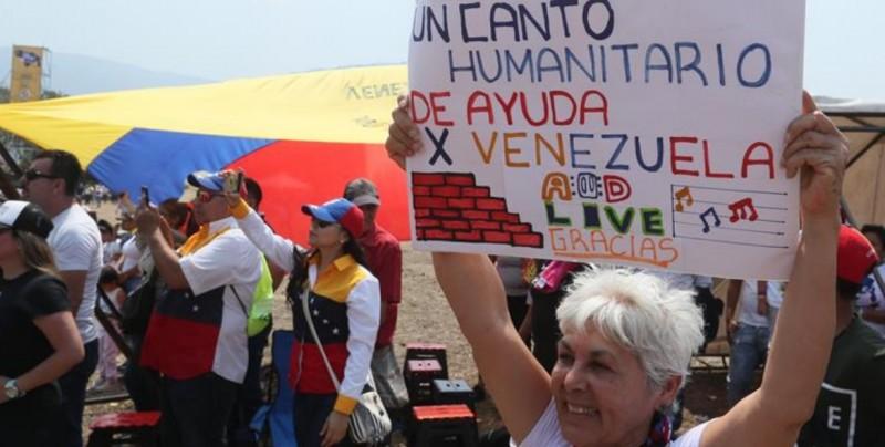 """Comienza el multitudinario concierto """"Venezuela Aid Live"""""""