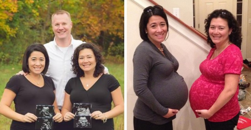 2 hermanas esperan mellizos del mismo hombre y dan a luz el mismo día