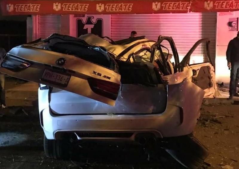Accidente deja tres heridos,  viajaban en una BMW