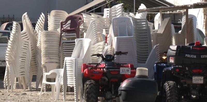 Recoge comuna 3 mil 500 sillas en operativo de Carnaval