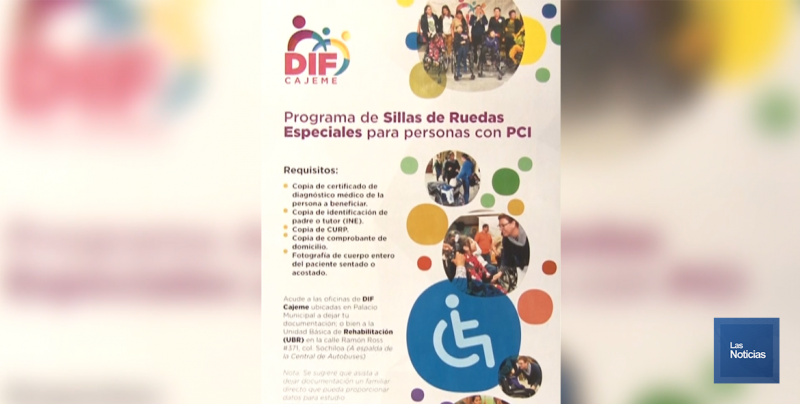 En Cajeme, DIF entregará 50 sillas de ruedas