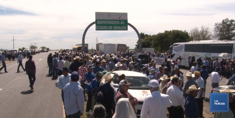 Productores agrícolas de Sonora y Sinaloa, bloquearon Carretera Internacional