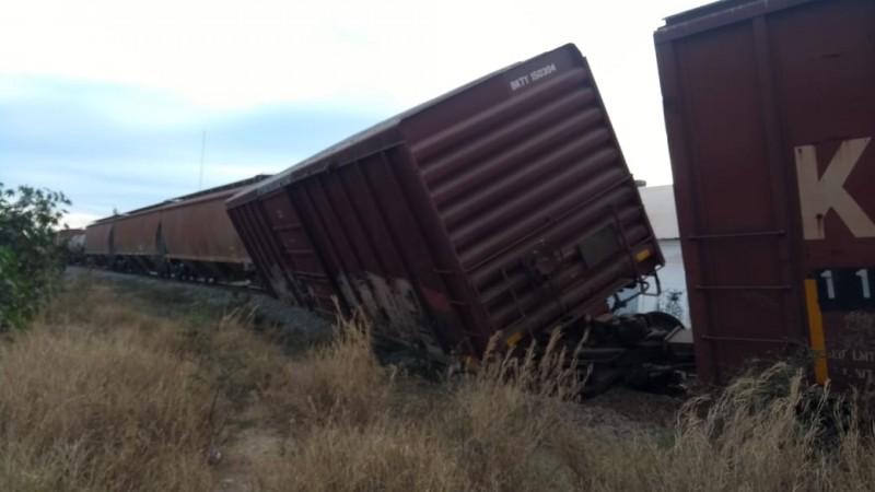 Se descarrila el tren en El Palmito