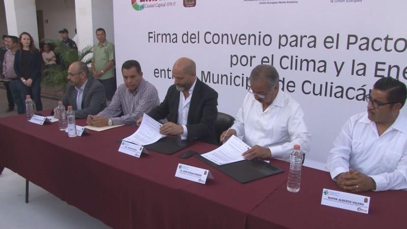 Firma Culiacán convenio para contribuir a disminuir el impacto ambiental