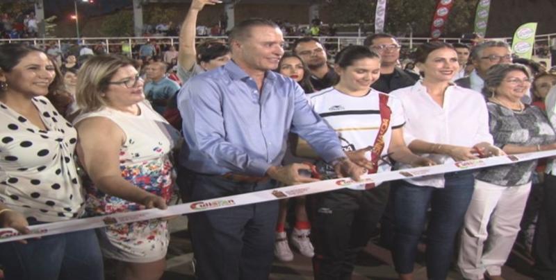 El Gobernador de Sinaloa Quirino Ordaz Coppe inaugura el Velodromo en Culiacán