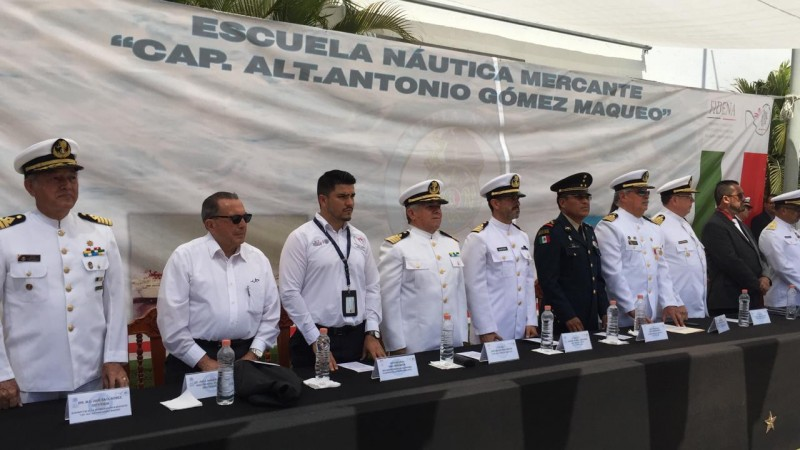 Celebran el CXXXIX Aniversario de la Escuela Naútica de Mazatlán