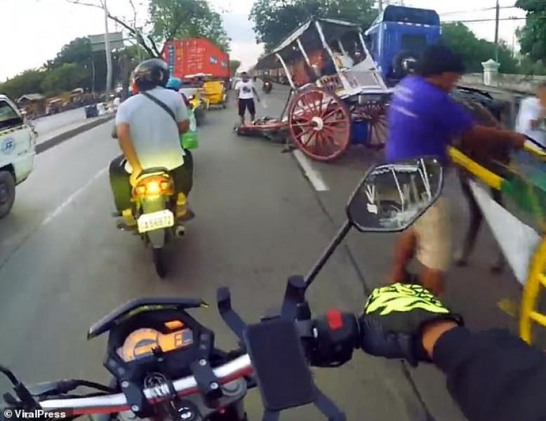 Caballo cansado se desploma en la calle tras jalar pesado carruaje con turistas
