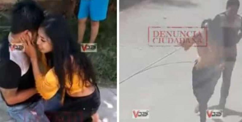 Aparece nuevo video: Hombre apuñalado por su novia pateó y azotó a su novia al suelo