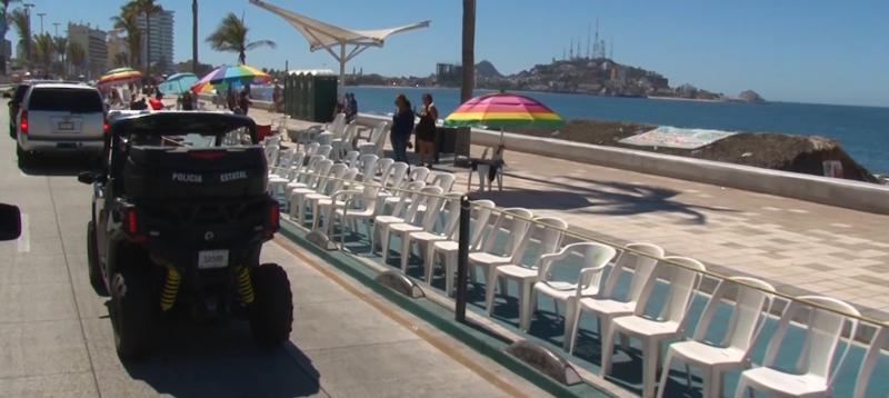 Continúan en resguardo sillas retiradas en Carnaval Mazatlán 2019