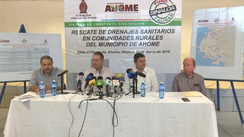 Invierten hasta 220 millones en reparación del drenaje en zona rural de Ahome