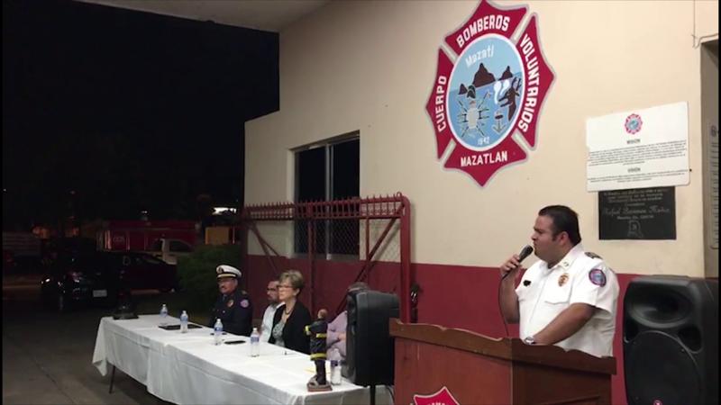 Bomberos Voluntarios de Mazatlán cambió de comandante