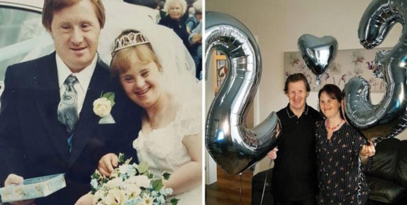 Pareja con Síndrome de Down, festeja 23 años de matrimonio