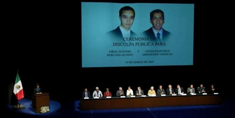 Gobierno mexicano pide disculpas por asesinato de estudiantes en 2010