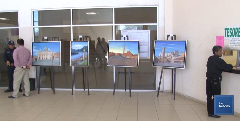 Llevan Arte a seguridad pública, exponen 15 obras al óleo