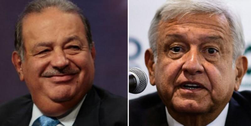 López Obrador dice que Carlos Slim se retira en su sexenio y quiere ayudarlo
