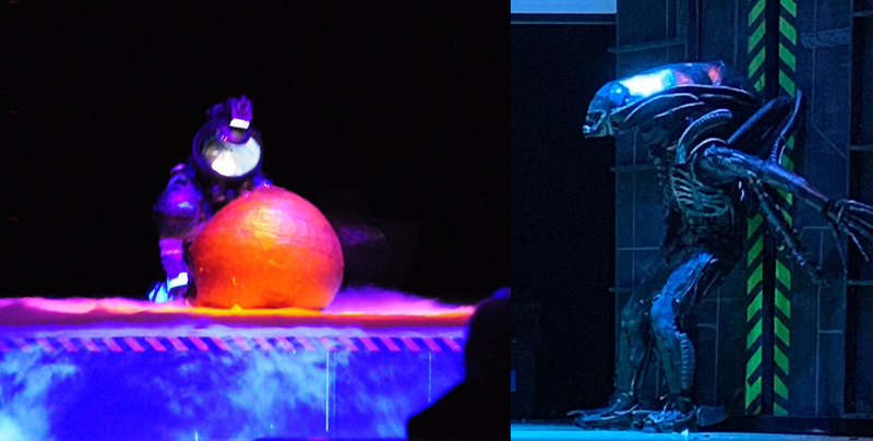 Alumnos de secundaria interpretan 'Alien' en una obra de teatro