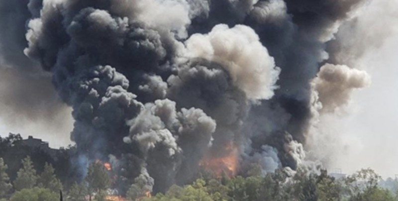 Se registra explosión en bodega con pirotecnia en Chimalhuacán