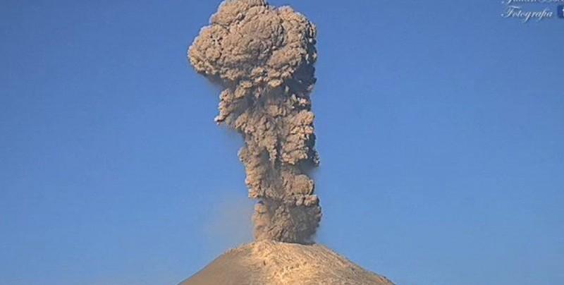 Sube a fase 3 la alerta por explosiones del Popocatépetl
