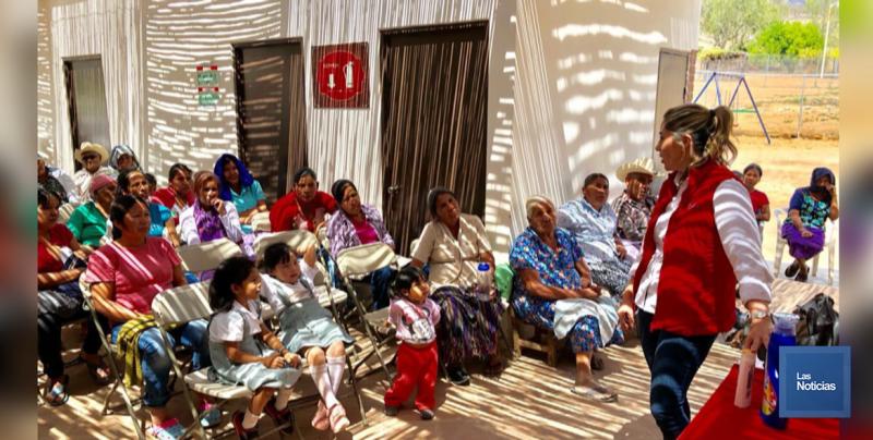 En Álamos, DIF de Sonora lleva apoyos a Comunidades Guarijías
