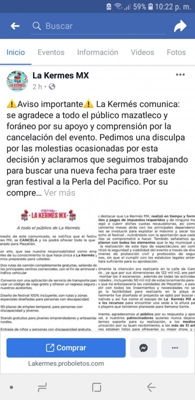Se da por vencida La Kermés MX, se cancela oficialmente
