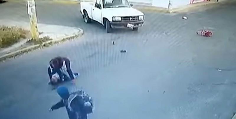 #Video Pequeño muere atropellado en Puebla