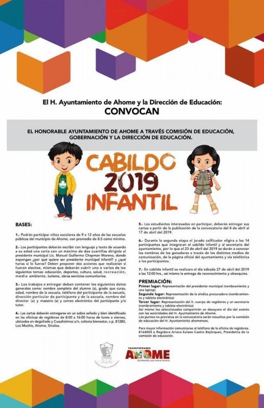 Invitan a niños ahomenses a ser parte del cabildo infantil
