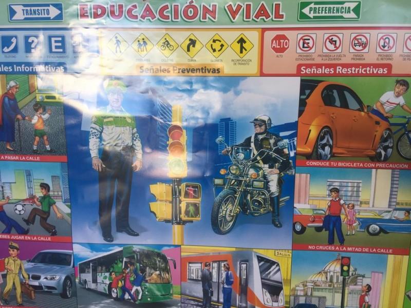 """Fomentan la prevención de accidentes durante """"Semana Nacional de Educación Vial"""""""