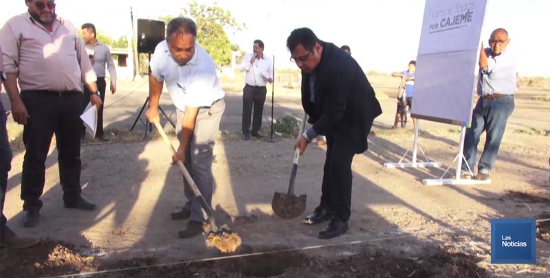 Alcalde de Cajeme da banderazo a construcción de 40 obras