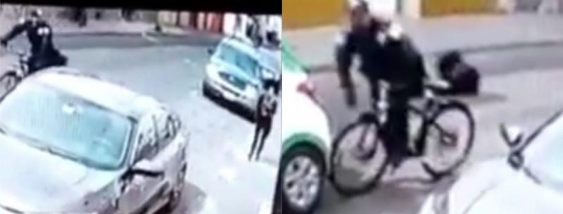 ¡No creerás lo que le pasó a este policía por distraído!