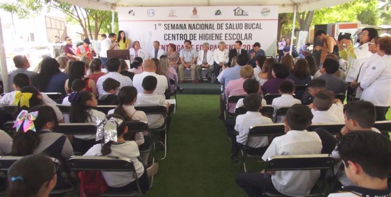 Entrega de equipamiento y rehabilitación del Centro de Higiene Escolar en Culiacán