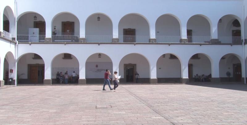 Guardias en el Ayuntamiento de Culiacán