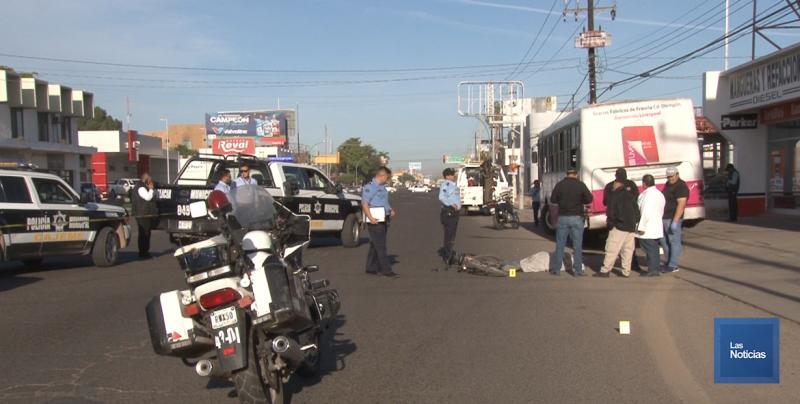 Murió ciclista atropellado por camión urbano