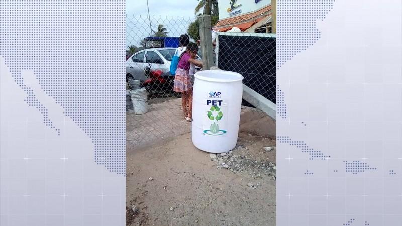 Roban dos contenedores de PET en Mazatlán