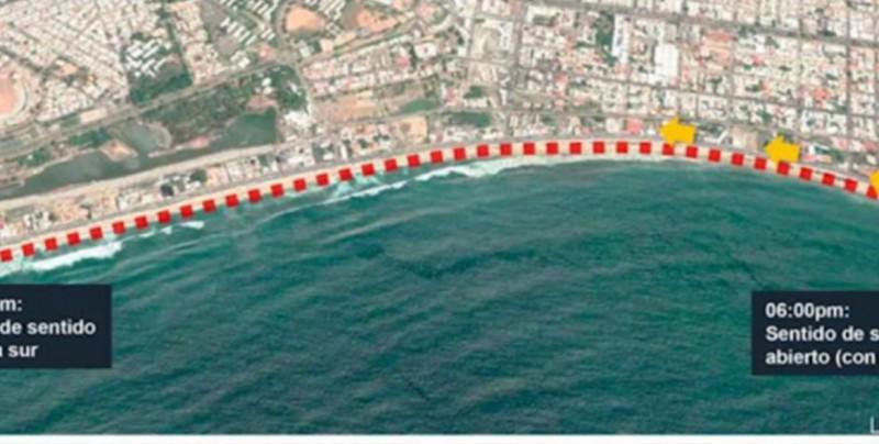 Conoce los días y horarios en que cerrarán la Avenida del Mar