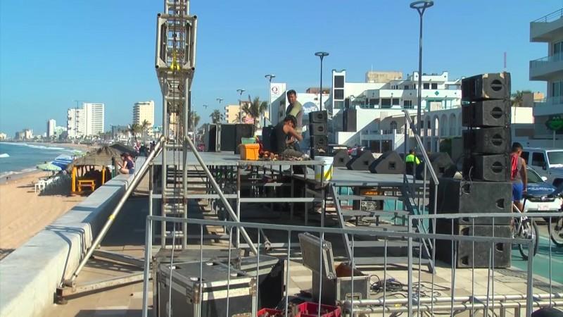 Se adueñan de la Avenida Del Mar los escenarios del Mazatlán Fest